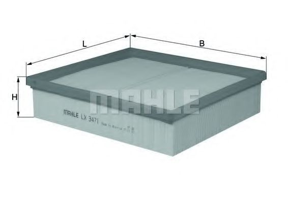 Фильтр воздушный MAHLE LX3471
