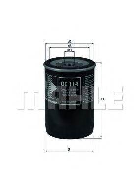 Фильтр масляный MAHLE OC 114