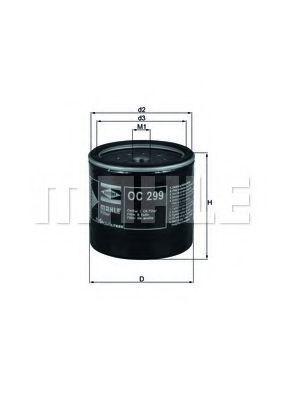 Фильтр масляный MAHLE OC299