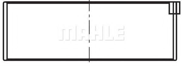 Вкладыши шатунные комплект MAHLE 029 PS 19905 025