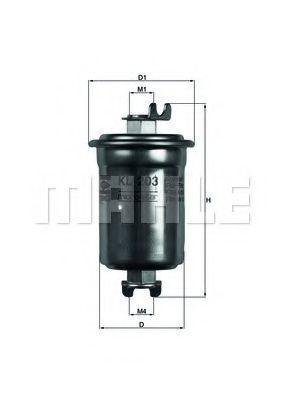 Фильтр топливный MAHLE KL203