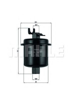 Фильтр топливный MAHLE KL 185