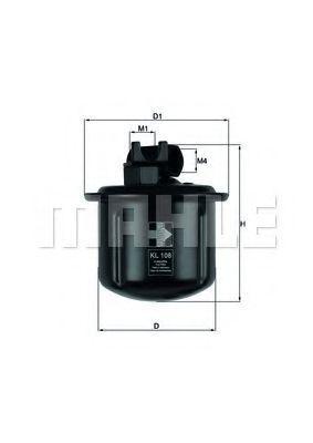 Фильтр топливный MAHLE KL 108