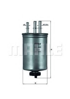 Фильтр топливный MAHLE KL 446