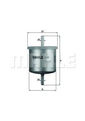 Фильтр топливный MAHLE KL61
