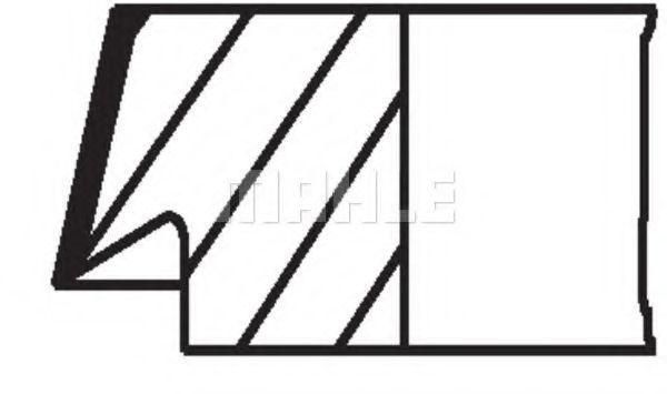 Кольца поршневые компресcора MAHLE 00426N0
