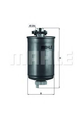 Фильтр топливный MAHLE KL75