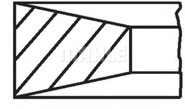 Комплект поршневых колец MAHLE 011RS101010N0