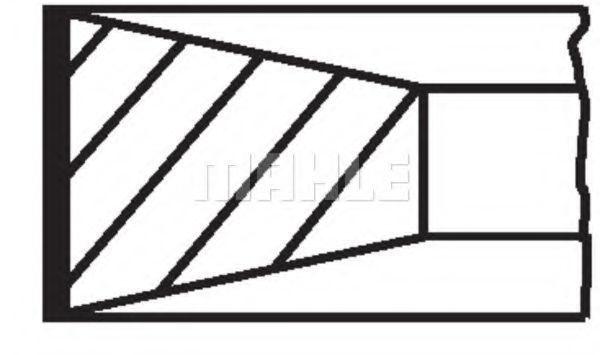 Кольца поршневые MAHLE 007 28 N2