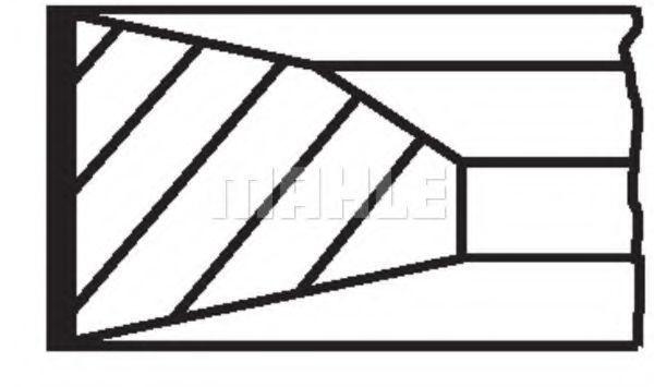 Кольца поршневые MAHLE 005 23 N0