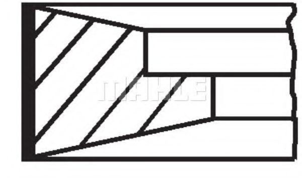 Комплект поршневых колец Mahle Kolben 001RS001090N0