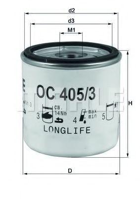 Фильтр масляный MAHLE OC4053