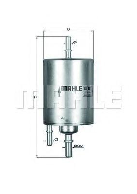 Фильтр топливный MAHLE KL 571