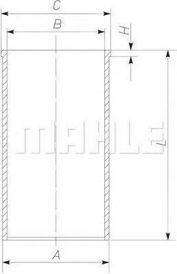 Гильза блока цилиндров MAHLE 227 WT 39