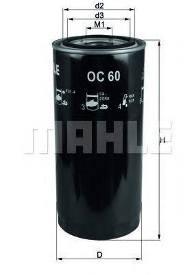 Фильтр масляный MAHLE OC 60