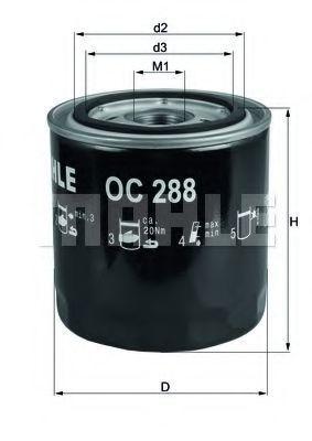 Фильтр масляный MAHLE OC288