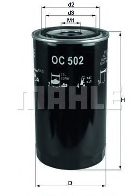 Фильтр масляный MAHLE OC502