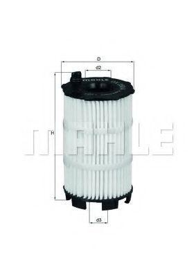 Фильтр масляный MAHLE OX3504D