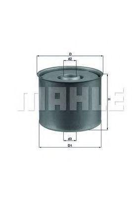 Фильтр топливный MAHLE KX23D