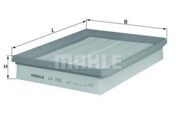 Фильтр воздушный MAHLE LX 722