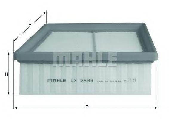 Фильтр воздушный MAHLE LX2633