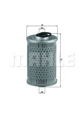 Фильтр топливный MAHLE KX 35