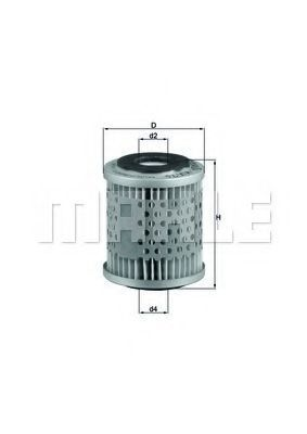 Фильтр топливный MAHLE KX 76D