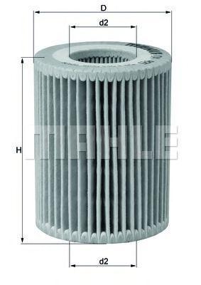 Купить Фильтр масляный MAHLE OX825D