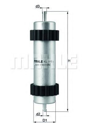 Фильтр топливный MAHLE KL915
