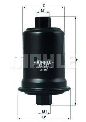 Фильтр топливный MAHLE KL522