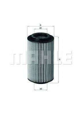 Купить Фильтр масляный MAHLE OX1537D2