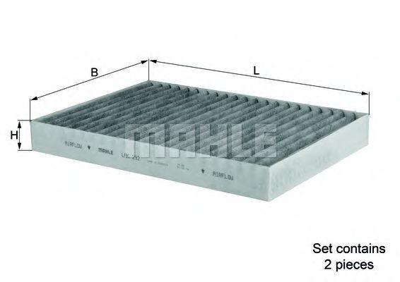 Фильтр салона угольный MAHLE LAK292S