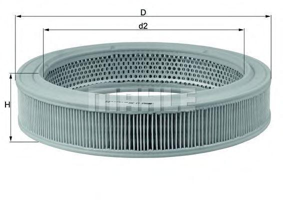 Фильтр воздушный MAHLE LX208