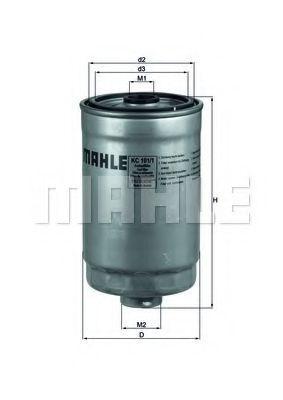 Фильтр топливный MAHLE KC1011