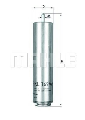Фильтр топливный MAHLE KL1694D