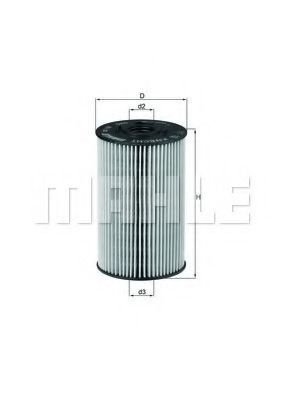 Фильтр масляный MAHLE OX150D