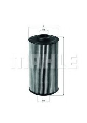 Фильтр масляный MAHLE OX1521D