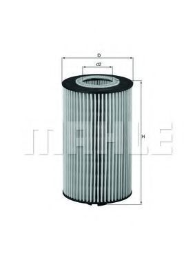 Фильтр масляный MAHLE OX161D
