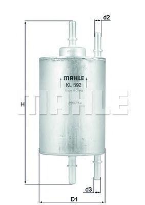 Фильтр топливный MAHLE KL 592