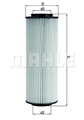 Фильтр масляный MAHLE OX775D