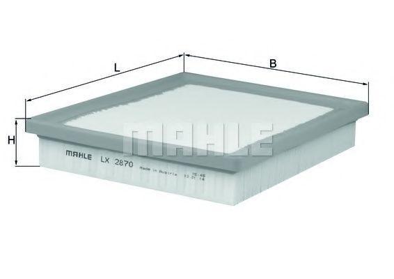 Фильтр воздушный MAHLE LX2870