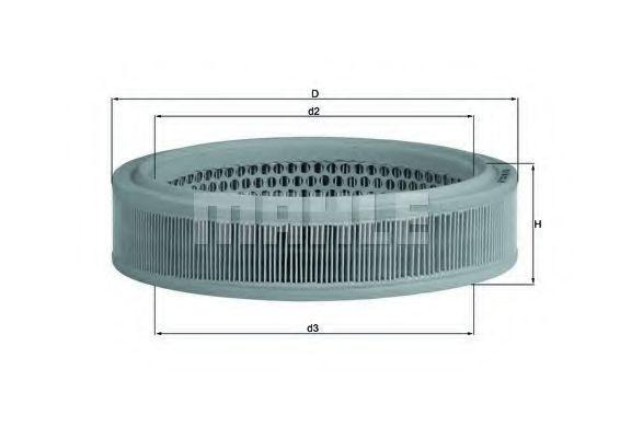 Воздушный фильтр MAHLE LX166