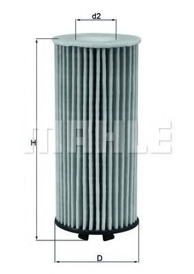 Фильтр масляный MAHLE OX 815D