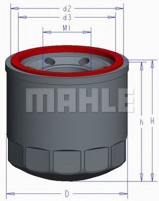 Масляный фильтр Mahle Kolben OC1050