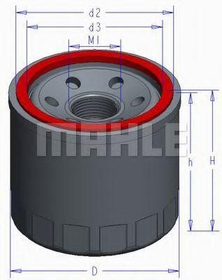 Масляный фильтр Mahle Kolben OC980