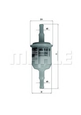 Фильтр топливный MAHLE KL13OF