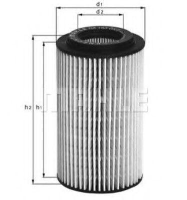 Фильтр масляный MAHLE OX153D1  - купить со скидкой