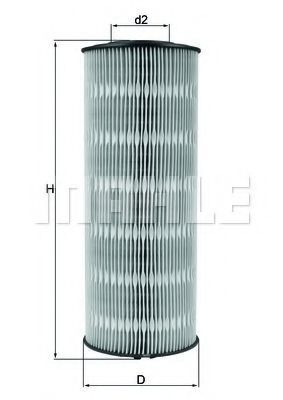 Фильтр масляный MAHLE OX168D