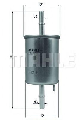 Фильтр топливный MAHLE KL573
