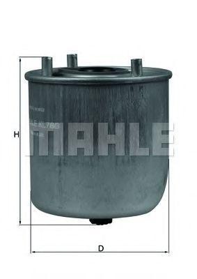 Фильтр топливный MAHLE KL 780